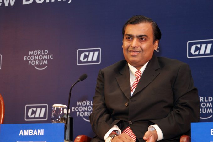 Mukesh Ambani. Photo by World Economic Forum