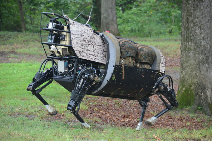 Legged Squad Support System robot prototype by Boston Dynamics (darpa.mil)