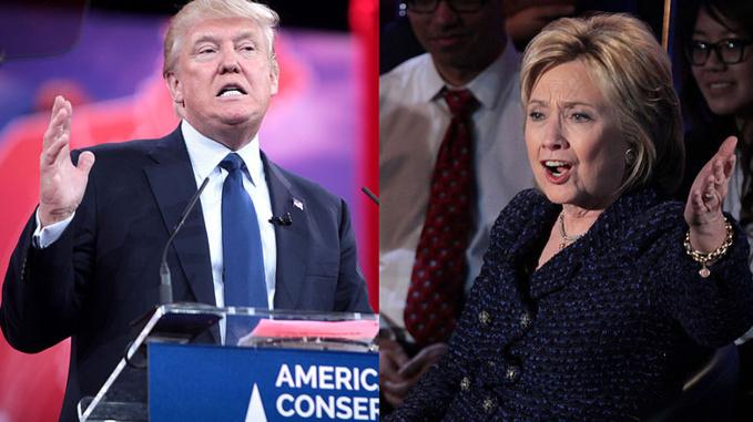 Krassotkin (derivative), Gage Skidmore (Donald Trump), Gage Skidmore (Hillary Clinton)