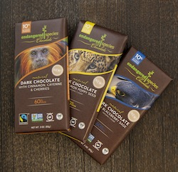 The New Sixty Percent Natural Cocoa Bars of Endangered Species Chocolate Is A Creative Take On Food