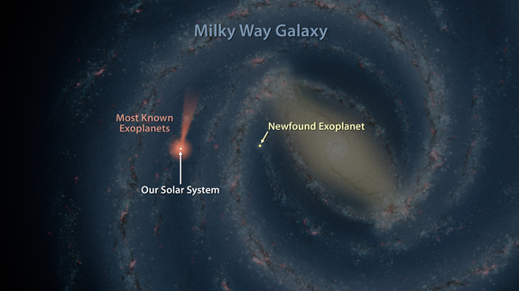Astronomers Chartering The Milky-Way Discover A New Planet, The Furthest Ever, With The Help Of Spitzer