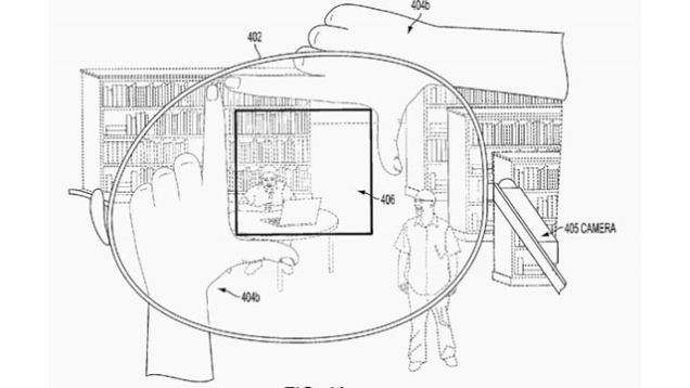 Google Glass Will Be Able to Determine the Image Boundaries by the Photographer Fingers