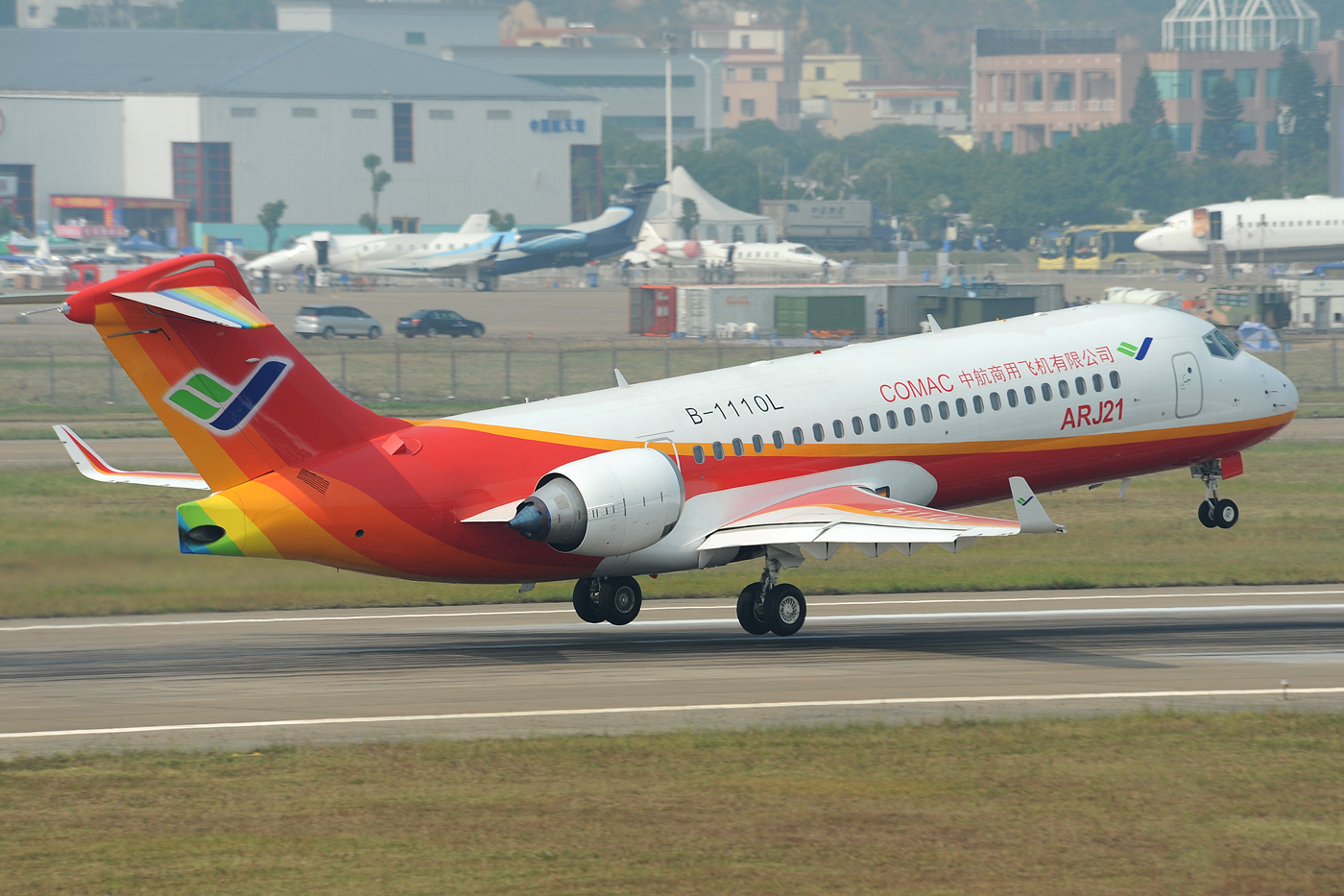 Comac ARJ21 Xiangfeng,  twin-engined regional jet, manufactured by Comac.  Dura-Ace via flickr